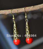FREE SHIPPING National jewelry accessories festive married drop earring vintage bronze earrings