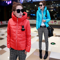 Down coat winter women's 2013 slim fashion design women's thermal short down cotton-padded jacket outerwear