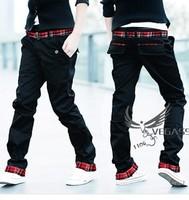 Free Shipping 2013 New Men Fashion Han Edition Slim Leisure Pants ,Sand Belt ,Spring,Summer,Autumn