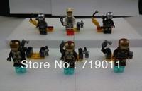 Iron Man 3 Series Ironman Action Figure Building Blocks Toys 6 pieces/lot Free shipping