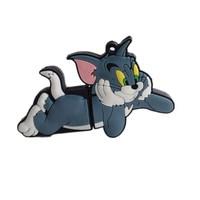 Retail Tom and Jerry 8gb 16gb 32gb 64gb 512gb usb flash drive Memory Stick usb pen drive cartoon flash drive cat Free shipping