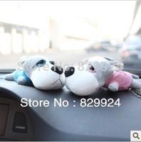 Free shipping 2pcs/Lot Lover Big Eye Dog Car Bamboo Charcoal Bag/ Car Deodorizer/Car air freshener 2 colors