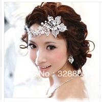Best  designer alloy luxurious pearl flower hair comb  fashion rhinestone bridal Hairpins wedding hair combs