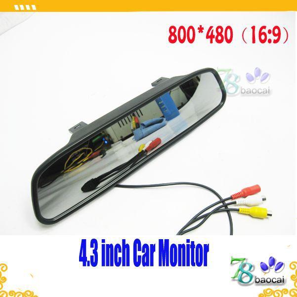 """Vendita di alta qualità più economico 4,3""""lcd specchietto retrovisore monitor auto specchio monitorare specchietto retrovisore auto monitor universale modelli"""