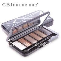 Free Shipping 6 colors Professional Eye Shadow Powder Eyeshadow palette Pigment makeup set