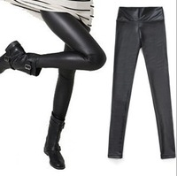2014 Fashion spring and autumn high waist leatherette leggings disco pants high-elastic new 2013 for women girls'  shorts