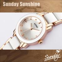 kimio fashion luxury women dress watches ladies fashion rose gold ceramic bracelet designer casual quartz watch for women
