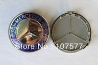 75mm PVC Chrome MERCEDES BENZ Car Wheel Emblem Auto Badge With Pins Miss Cherry