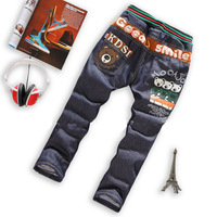Winter 2013 boys panties cowboy cotton trousers three cubs series 20 to 26 size is enlarged