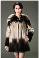 Dear ladies long section 2014 luxury mink coat mink fur cape fur coat and fur hat and long coat Dongkuan big yards shipping