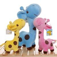 25CM pink giraffe stuffed animal Giraffe plush toy doll pillow childrens toys