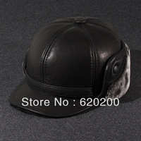 winter Genuine leather sheepskin hat autumn and winter thermal cap ear protector cap