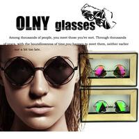 Oculos de sol Retro sunglasses triangular reflective lens round Harajuku style sunglasses women brand designer 2013