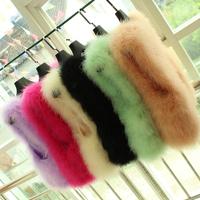 2014 New Arrive Fashion Beautiful Ostrich Fur Vest Wool Weater Vest Short Design Fur Coat Women 10 Color Free Shipping