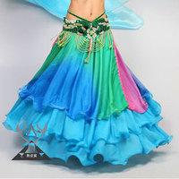 Bottoms Belly Dance Skirt Big Skirt Imitation Silk Skirt Three Gradient TP6004