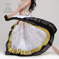 Belly dance Skirt Spain Embroidered Chiffon 360-Degree Swing Skirt TP 1294