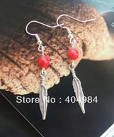 FREE SHIPPING Yunnan national accessories tibetan silver earrings drop earring