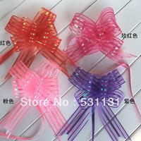 Wedding supplies gift ribbon car decoration door garland Organza Pull Bow