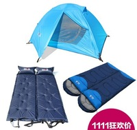 Tent outdoor double bundle double layer aluminium rod tent field camping tent set