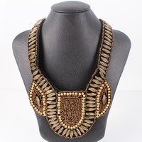 MN801 Fashion Necklace False Collar Necklace Brown Color Beaded Necklace New Arrival