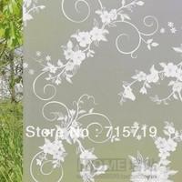 Scrub glass film birds flower vine window sliding door glass stickers transparent bl0056 translucidus