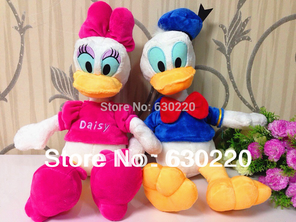 Available! Free shipping Classic Cartoon Daisy Duck Donald Duck Plush Toys for girls Kids Baby Dolls size 45cm Factory wholesale(China (Mainland))
