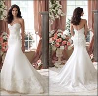 Sweetheart neckline custom order wedding dress satin 2014 NS662