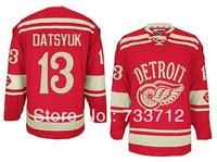 2014 winter classic Detroit Ice Hockey Jerseys #13 Pavel Datsyuk red wings Jersey cheap S M L XL XXL XXXL