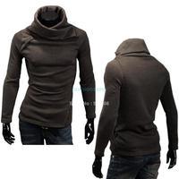 Men Hoodies Style Knitwear Thermal Long-sleeve Turtleneck Pullovers Sweater 18878