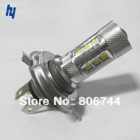 Free Shipping 2 Piece/lot high power led h4 80W car cree fog light bulb lamp super bright 12v auto lamp led h4