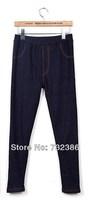 2013 New fashion for women's high-elastic slim leggings faux denim pencil pants jeans autumn spring winter jeans warm pants