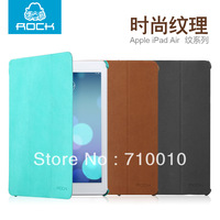 Original Rock Business flip style stand leather cases for Apple ipad air, for ipad air leather cases, with protector and stylus