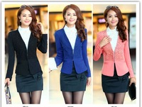 Long-sleeved 2013 small suit jacket Hitz Women Korean version of the influx suit jacket Slim wild wild women