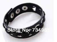 Rivet Punk Leather Bracelets & Bangles Gift for Women & men Wholesale 2014 Spring New European Popular Fashion Jewelry