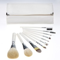 2014 NEW,10 PCS 10pcs Pro Cosmetic Brush set Make up Brushes Kit high quality white makeup brush set tools Free Shipping