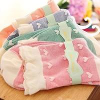 free shipping 10pair/lot Women winter Cotton two-way falbala  socks love cute socks lovely sock