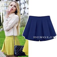 Vogue Fashion Women Ladies Female High Waist Pleated Chiffon Summer Casual Mini Skirt Shorts Culotte Big Size Free Shipping 1088