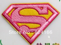 b9 Super man adhesive fabric a5lzyez clothes patch stickers superman pink red