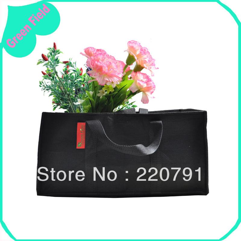 Decorative Home Garden Planter Bag Rectangular Window Box Bags Garden Grow Bag Green Home Garden Planting Bag Green Field(China (Mainland))