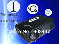 portable cheap led projector with native 720p 1280*800 resolution 3000 lumens 150w led lamp lighting 50000 hours, 2 free gifts