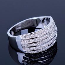 Anniversary Zirconium 18K Gold Platinum finger ring Marriage Dinner party Women Fashion