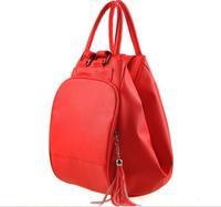 Hotsale Women Multifunctional Backpack PU Double-shoulder Bag Messenger Bag Girl's PU Leather Backpack