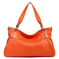4 colors genuine leather messenger bag women leather handbags 2014 new fashion brand 0866