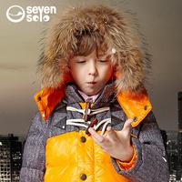 Hight quality,original brand children boy medium-long down coat ,child raccoon fur hooded down coat,kids winter clothing,Y48