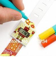 5 piece kids SUCK UK Paper watch digital DIY waterproof doodle paper watchband Christmas gift