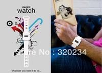 2 piece kids SUCK UK Paper watch digital DIY waterproof doodle paper watchband Christmas gift