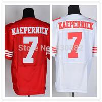 San Francisco #7 Colin Kaepernick Jersey Elite American Football Jerseys Embroidery Logo Mix Order size M-XXXL Free shipping