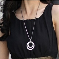 fashion new long design circle pendant necklace statement choker luxury sweater colar costume jewelry for women