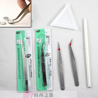 Diy tool britfilms tweezed drill point pen triangular plate rhinestone pasted diy tool