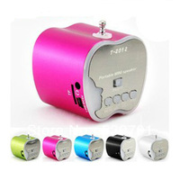 Freeshipping  T-2012 Portable mini speaker with TF card and USB disk music player  FM radio digital player